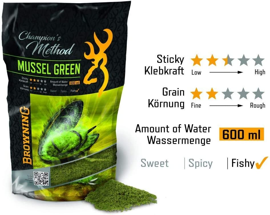 Browning Champions Method Mussel Green gr/ün 1kg