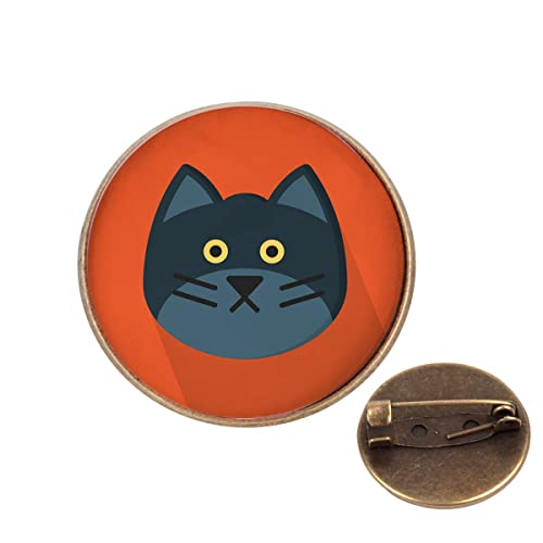 Amazon com: Pinback Buttons Badges Pins Funny Cat Face Lapel