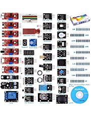 Arduino Kit, Arduino Uno Raspberry Pi 3 Mega 2560 R3, 37 en 1 Módulo Sensor Proyectos para Arduino Starter Kit K5