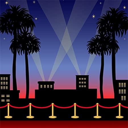 7x5ft Hollywood Backdrop Red Carpet Photography Background Sweet 16 Birthday Party Supplies Movie Awards Night Ceremony Event Dress-up Photo Booth SM-549