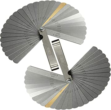 32 Blades Imperial Metric Combination Feeler Gauge Gage Precision Measure Tool
