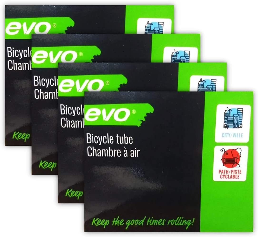 4 PACK FOUR EVO Bike Tube Bundle 700x28-32c 48mm Presta RVC