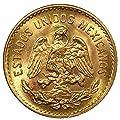 1955 Mexico 5 Pesos Gold Coin - Brilliant Uncirculated