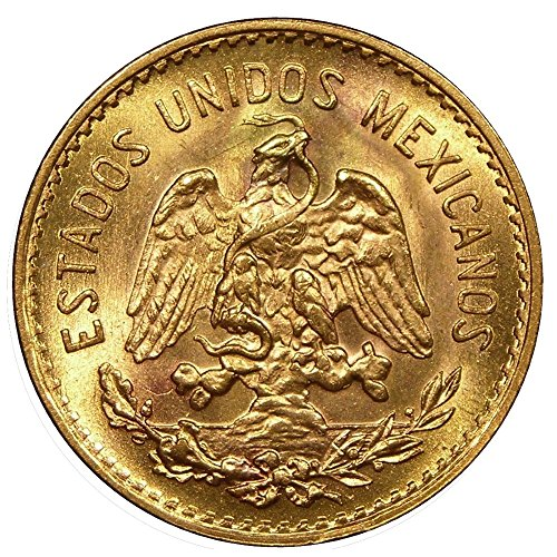 1955 Mexico 5 Pesos Gold Coin - Brilliant (Numismatics Gold Coins)