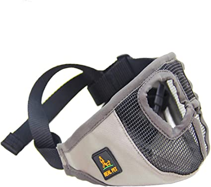 Adjustable Breathable Mesh Dog Muzzle with Eyehole for Bulldog Boston Terrier And Short-snouted Breeds to Anti-Biting Barking and Licking Chewing Barking Training Dog Mask Short Snout Dog Muzzles