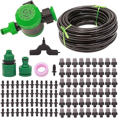 ZDG Sistema de riego para el jardín Sistema de riego automático para el hogar Balcón Jardinería Planta en Maceta Enfriamiento Eliminación del Polvo Sistema de riego para jardín (Size : 10M Set):