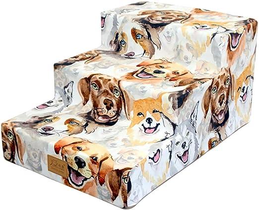 Escalera de Mascota 3 Pasos Escaleras para Perros pequeños Gatos ...
