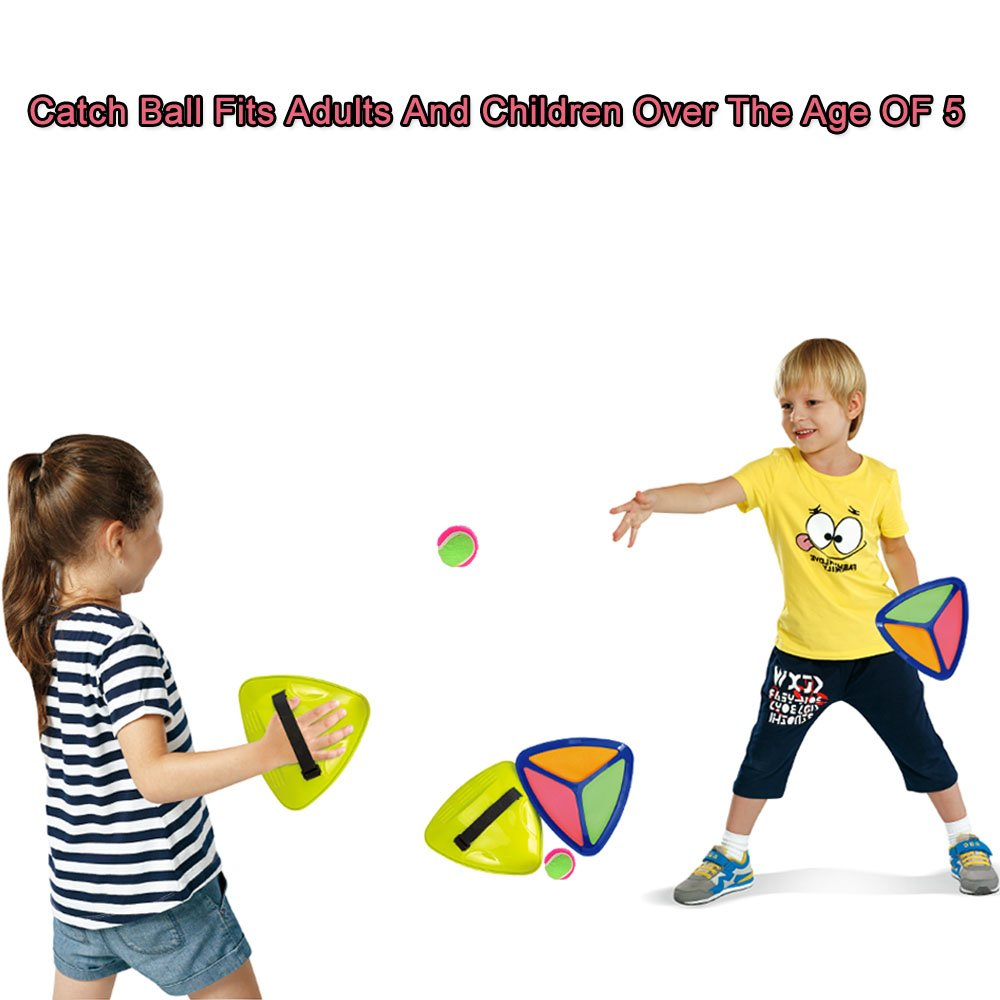 Seprovider Toss Catch velcro Ball Game with 2 Triangle Paddles 2 Balls and 1 Polyester Carry Bag Sports Game for Outside and Inside by Seprovider (Image #2)