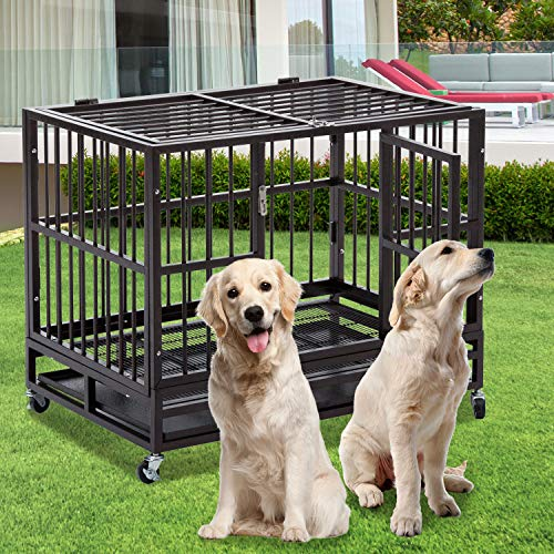 DOIT 37 inch Heavy Duty Dog Cage Strong Metal Kennel, used for sale  Delivered anywhere in USA