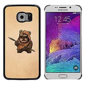Stuss Case / Funda Carcasa protectora - Bea Caveman Art Dagger Brown Painting Funny - Samsung Galaxy S6 EDGE SM-G925