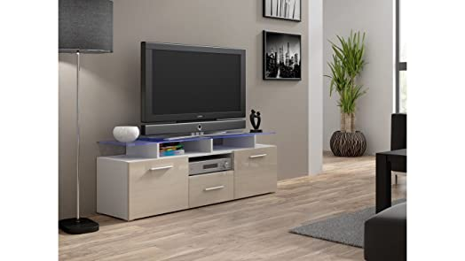 Modern HIGH GLOSS U0026quot;EVORA MINIu0026quot; TV Stand Display Cabinet WALL  Entertainment UNIT / Part 68
