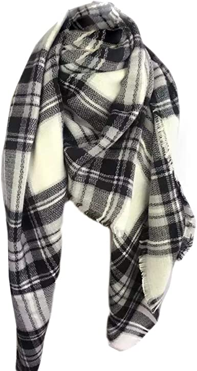 "Blanket Oversize 60""*60"" Classic Plaid Tartan Square Scarf New"