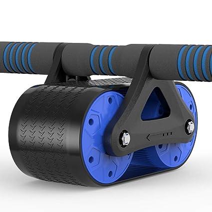 KKCD Rueda Abdominal ABS Abdominal Wheel AB Roller con Antideslizante Sin Ruido Alfombra Crossfit Muscle Trainer