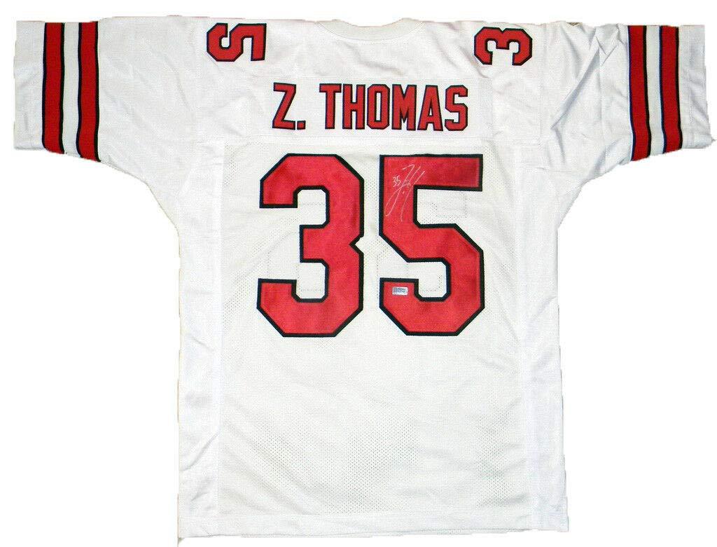info for d4630 9efa9 Zach Thomas Autographed Signed Memorabilia Texas Tech Red ...