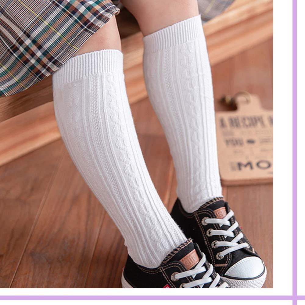 CozyWay Baby Knee High Socks Non Slip Unisex 3/5 Pack Toddlers Anti-Skid Long Stockings Boys Girls School Uniform Leggings (Assorted 5 Pack, M (1-2T))