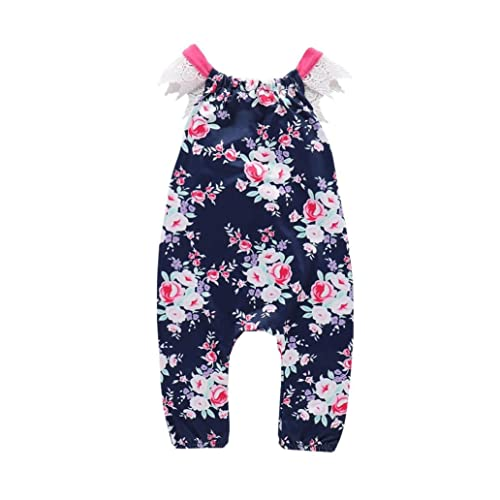 81334a875b2 Goodtrade8® Toddler Infant Baby Girl Backless Outfit One Piece Romper Kids  Sleeveless Jumpsuit Playsuit Green