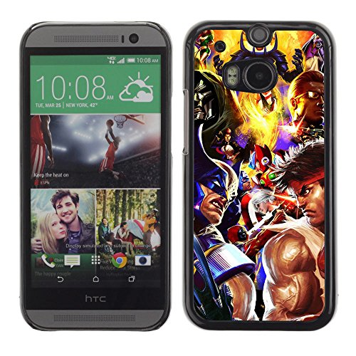 CASETOPIA / Video Game Charachters / HTC One M8 / Black Hard Back Case Cover Shell Armor Protection (Cartoon Charachters)
