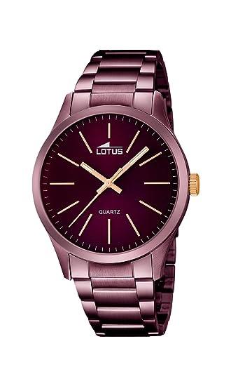 Lotus 18164/2 - Reloj para Hombre, Mecanismo de Cuarzo, Esfera de Color Morado y Pulsera de Acero Inoxidable Morado: Lotus: Amazon.es: Relojes