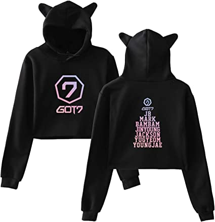 Qaedtls Kpop GOT7 Hoodie Sweatshirt Bambam JB JR Youngjae Mark Jackson Sweater Pullover