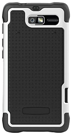 motorola droid razr white. ballistic sg1075-m385 sg case for droid razr m by motorola - 1 pack white