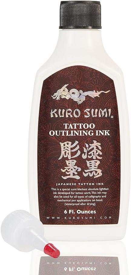 Kuro Sumi Tattoo Ink Outlining