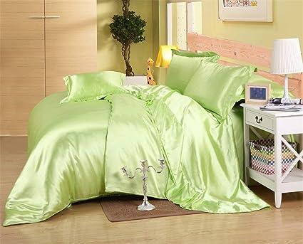 Dream Bedding Satin Silk Sheet Set 6 Pcs, Silk Bed Sheets, Luxury Bedding  Sets
