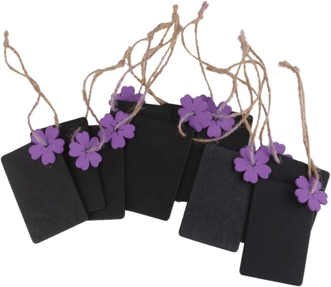 Pixnor 10pcs Bride Wooden Mini Card Party Table Numbers Place Blackboard with Base