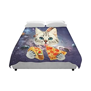 AnnHomeArt Space Cat Duvet Cover 86''x70''inch