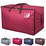 DOKEHOM DKA1011RD1 100L Large Storage Bag, Fabric Clothes Bag, Thick Ultra Size Under Bed Storage, Moisture proof (Red)