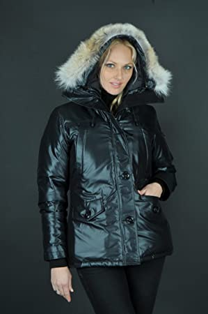 Ladies Canada Goose Montebello Parka BLACK Jacket Coat Insulated CG55 2533L  NEW b0830136f