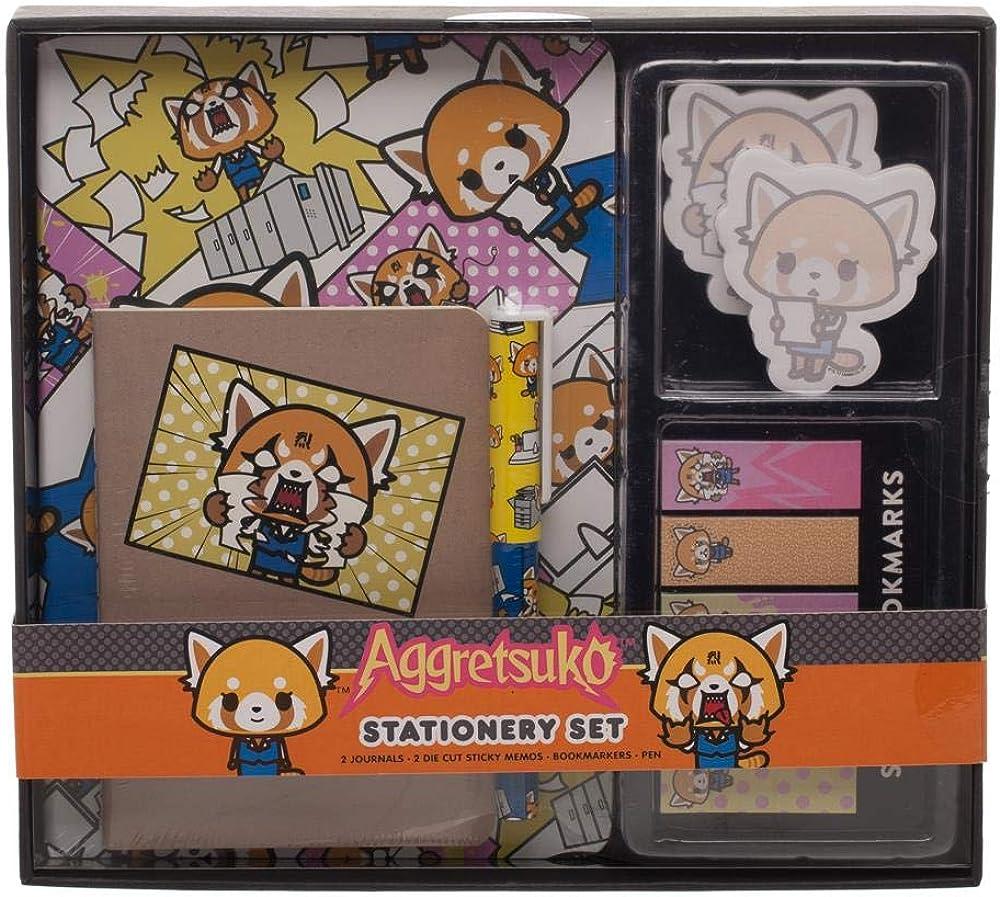 Aggretsuko Anime Stationary Set Anime Accessories Aggretsuko Anime Gift