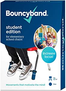 Bouncy Bands Original Elementary School Chairs (Blue) –Educational Tool That Helps Kids Actively Learn and Stay Engaged