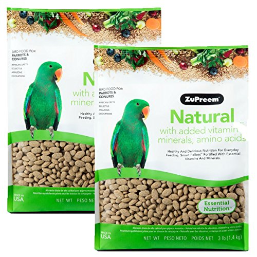 Cockatiel Pellets (ZuPreem Natural with Added Vitamins, Minerals, Amino Acids Medium/Large Bird Food,3 lb.)