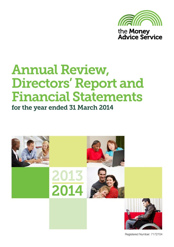The Money Advice Service annual review, directors' report and financial statements for the year ended 31 March 2014 (House of Commons Papers) pdf