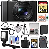 Panasonic Lumix DMC-LX10 4K Wi-Fi Digital Camera with 64GB Card + Battery + Case + Tripod + LED Video Light + Strap + Kit