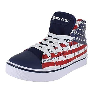 accf39d6c78a Heelys Boy s Hustle American Flag (Little Kid Big Kid Adult) Blue