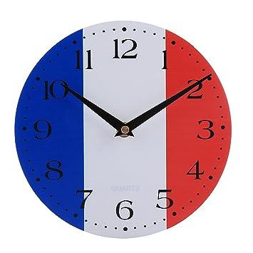 Foxom Relojes de Pared Silencioso No-ticking Reloj para Cocina Decorativas 20 CM / 7.87 in, TY-1: Amazon.es: Hogar