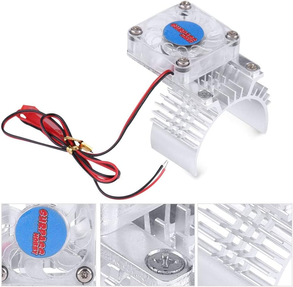 Heatsink Fan Cooling For 1//10 HSP HPI tamiyaFSKyosho TRAXXASYokomo Wltoys 36mm M