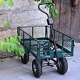 Yaheetech 800LB Heavy Duty Garden Utility Wagon Cart with Removable Steel Mesh Side-Walls