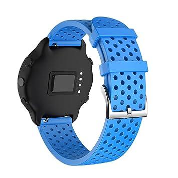 NotoCity Correa para Huawei Watch 2,20mm Repuesto de Correa Reloj de Silicona para Amazfit Bip Xiaomi/Garmin Vivoactive 3/Forerunner 235/245/Samsung ...
