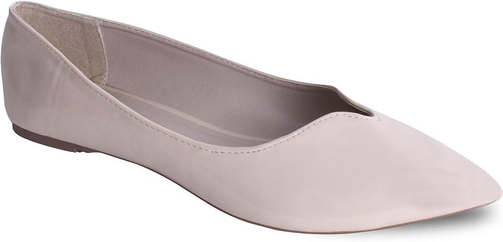 Womens Ladies Flat Ballet Pumps Ankle