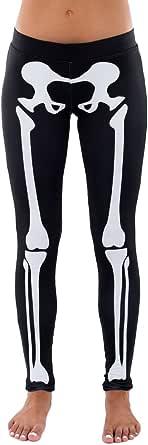 Skeleton Halloween Costume Leggings - Skeleton Tights Women
