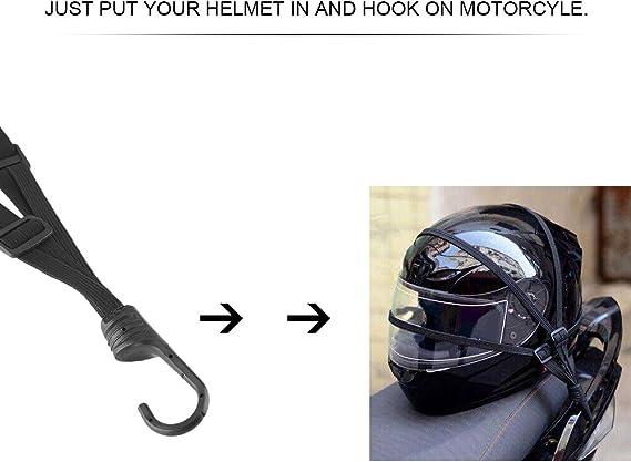 Bsddp Motorrad Stärke Einziehbarer Helm Gepäck Elastischer Seilriemen Mit 2 Haken Auto