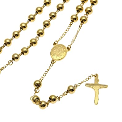 Beydodo Vergoldet Anhänger Halskette Herren Kreuz Mit Münzen Gold