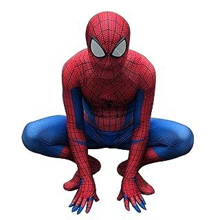 nihiug Incredibile Spider-Man Halloween Performance Costume Cosplay Anime Costume Incredibile Spider-Man Calzamaglia per Bambini Abbigliamento per Adulti,Red- Adult M (150-160)
