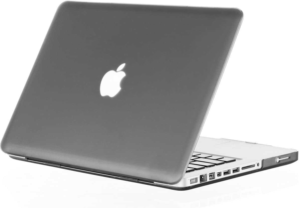 Kuzy - MacBook Pro 13.3 inch Case A1278 Older Verision, Rubberized Matte Cover Hard Shell Case for MacBook Pro 13 inch with CD-ROM Release 2012-2008 - Gray