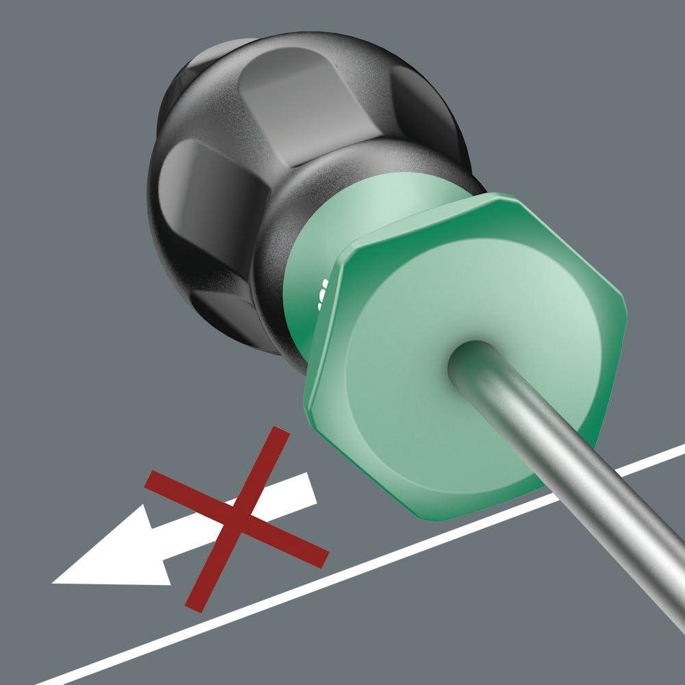 1 x 5 x 150 mm Noir//Vert Wera 05031413001 Tournevis pour vis /à fente 1335-1.0x5.5x150mm