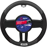 Steering wheel cover in imitation suede. Black SPC1112BK