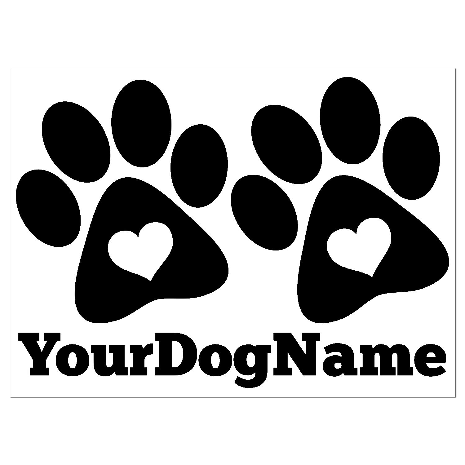 Amazon.com: Dog Paws With Dog Name Decal - Pet Dog Footprint and Name  Custom Vinyl Sticker - Dog Lover Decal - Many Colors and Sizes to Choose  From: Handmade