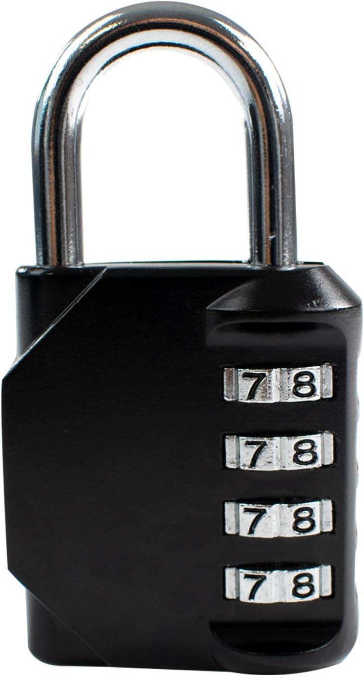 R/églez Votre Propre Code Cadenas /à 4 Chiffres TRIXES Cadenas /à Combinaison Tr/ès r/ésistant pour casier de Sac de Gymnastique Cadenas pour Valise Porte-Bagages Cadenas /à num/éro HQ